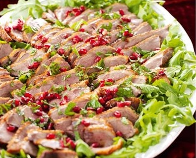 Duck breasts with pomegranate and mint - Nigella Lawson
