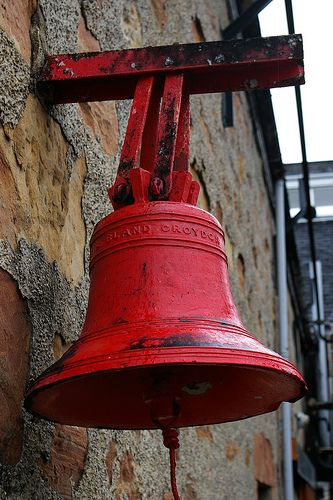 Red bell at the Balblair distillery, located in the small village of Edderton, northern Highlands, Scotland.  Photo by Jason Johnstone-Yellin.