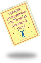 CREATIVE INTERVENTIONS FOR TROUBLED CHILDREN AND YOUTH:   This best-selling collection is filled with creative assessment and treatment interventions to help clients identify feelings, learn coping strategies, enhance social skills, and elevate self-esteem. Activities are geared to 4-16 year-old clients. GET 20% DISCOUNT WITH CODE PC14 at www.lianalowenstein.com   #therapy, #counseling, #play therapy, #family therapy, #social skills, #self-esteem
