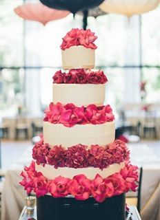 wedding cake - love the colors