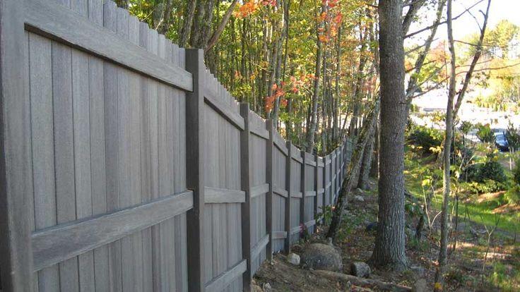 Fiberon Fence Weatheredpine Gallery Fence Fence Styles
