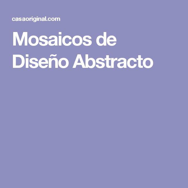 Mosaicos de Diseño Abstracto