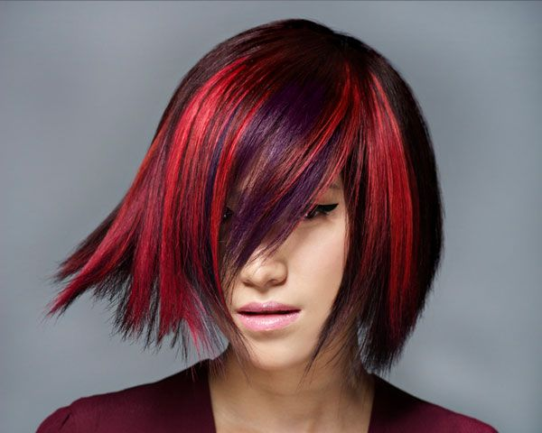 Red And Black Hair Dye Styles: Gallery For Red And Purple Hair Highlights