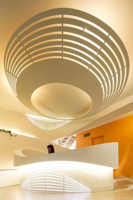 Soothing Medical Center Interior Keeps Kids + Parents Calm lights