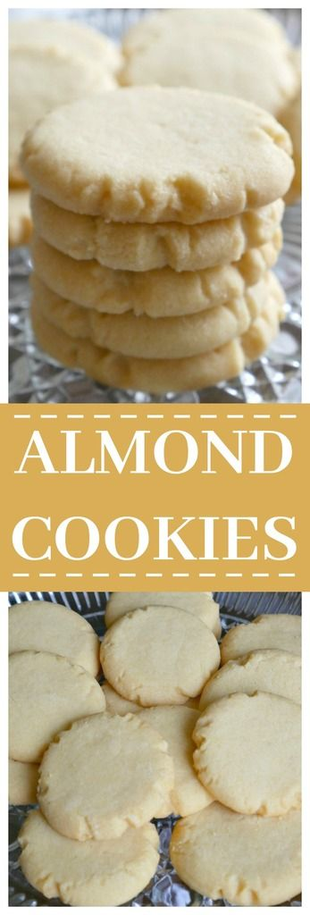 Almond Cookies Recipe - a buttery flavor shortbread type cookie.
