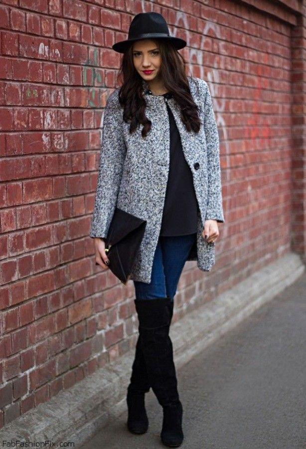 Ботфорты с джинсами: 11 стильных образов 9