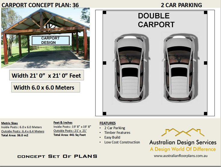 2 CAR CARPORT PLANS Easy Build Concept popular craftsman