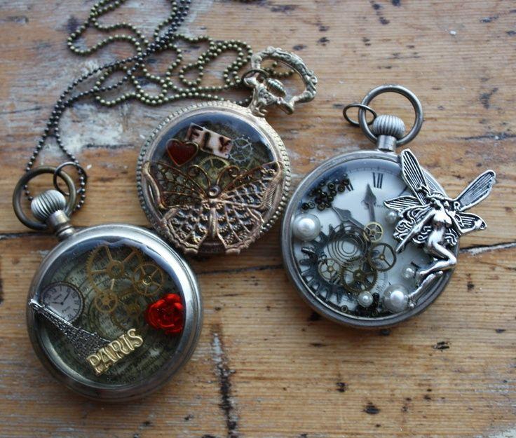 Tim Holtz altered alarm clocks | Altered pocket watches | TIM HOLTZ CLOCKS & POCKETWATCHES