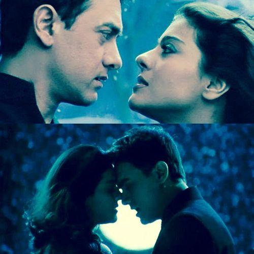 Kajol and Aamir Khan