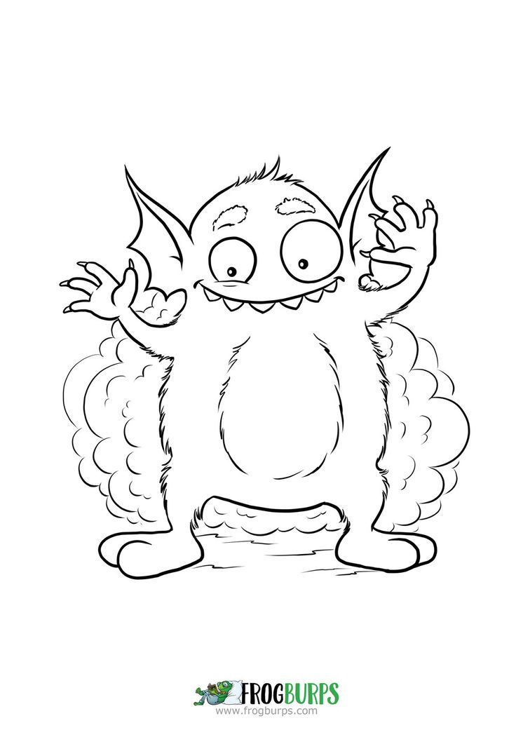 Silly Monster | Coloring Page