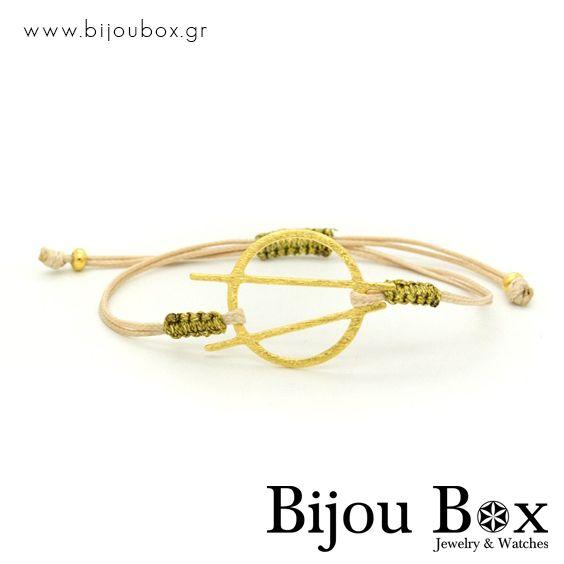 Bracelet with gold plated bronze element ACO  Βραχιόλι με στοιχείο από επίχρυσο μπρούτζο ACO  Check out now... www.bijoubox.gr #BijouBox #Bracelet #Βραχιόλι #Handmade #Χειροποίητο #Greece #Ελλάδα #Greek #Κοσμήματα #MadeinGreece #Gold #Goldplated #jwlr #Jewelry #Fashion