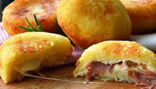 Πατάτας γεμισμένες με τυρί και ζαμπόν http://www.stroumfaki.org/2015/07/blog-post_703.html