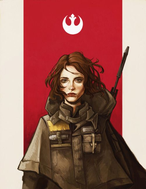 """""""I Rebel."""" Jyn Erso. I was inspired by this cape/poncho costume design for her in the Rogue One concept art book."""