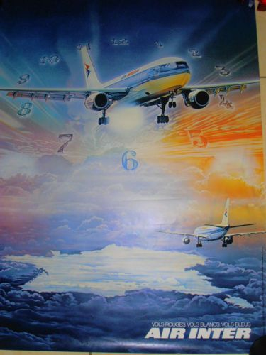 affiche-AIR-INTER-avion-aviation-aeronautique