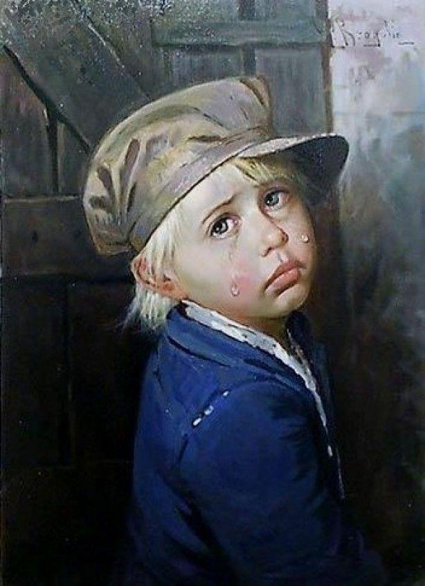 huilende kinderen van Bragolin, uitprinten en in een lijstje