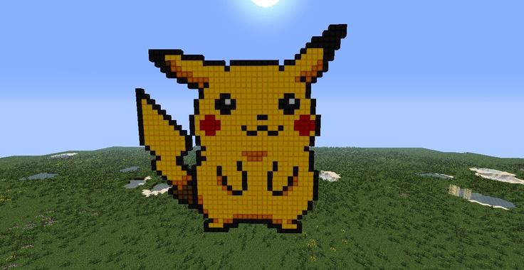 Pixle Art Pikachu Minecraft Art Pinterest