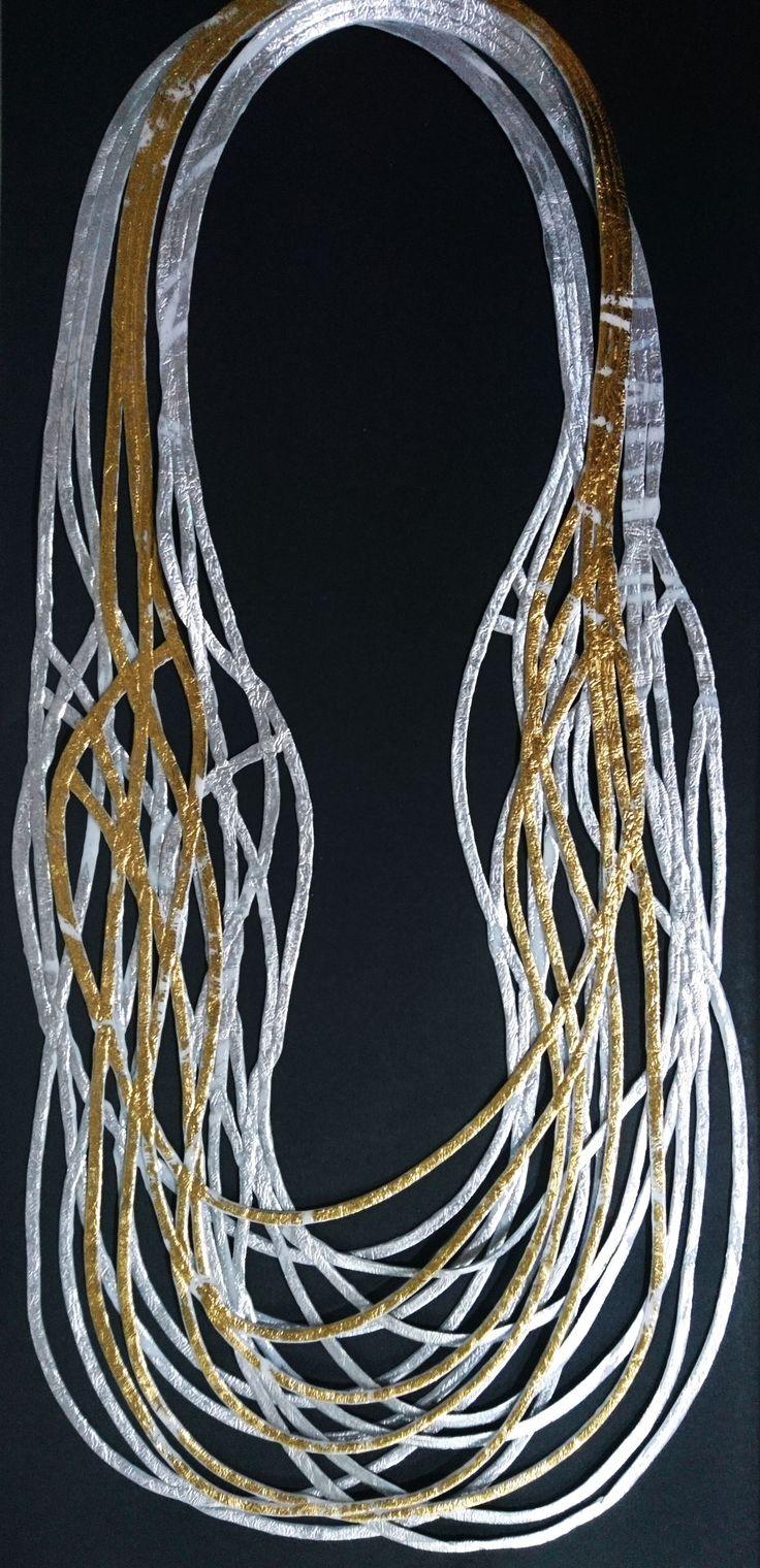 Collares en polimeros reciclados. Dorado con plateado, sublimo conjunto! Disponible en otros colores