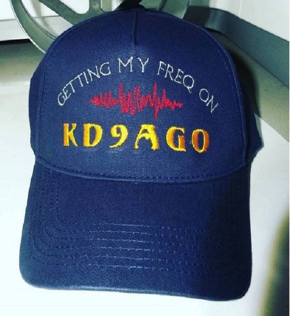 b60503d893e87 Hat HAM RADIO H18NA - Classy Custom Embroidered Hat in CRUSHPROOF Box with  Ham Call - Ham Radio Gift Hat Cap