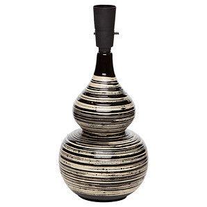 Seville Black Swirl 33cm Lamp Base Size B