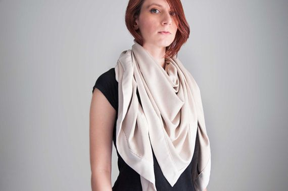 Extra Large Triangle Blanket Scarf  oversized wrap by clothbotshop