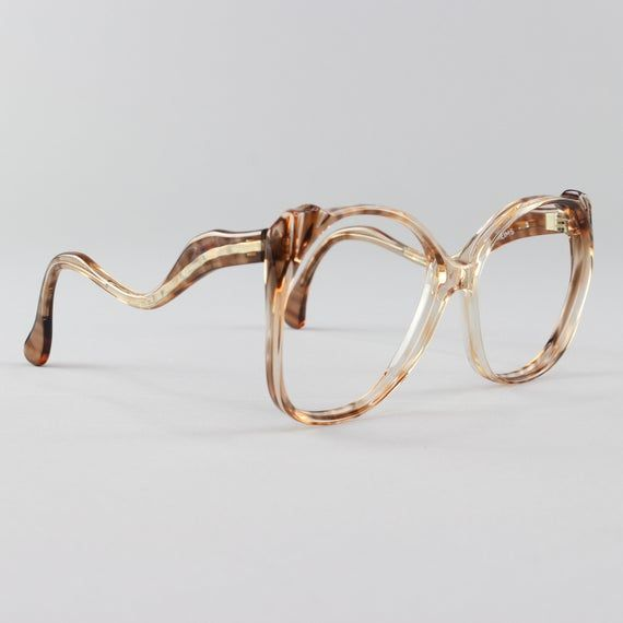 Vintage Eyeglasses | Oversized 70s Glasses Frame | Clear Tortoiseshell – Reims 2 – Products