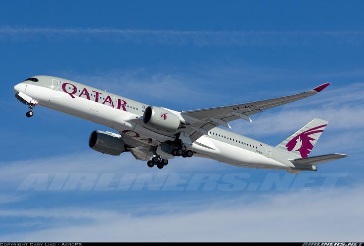 Airbus A350-941, Qatar Airways, A7-ALE, cn 008. Philadelphia, United States, 30.1.2016.