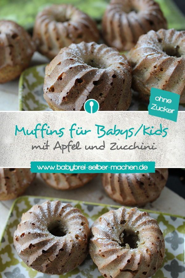 Apple and zucchini muffins for babies – without sugar