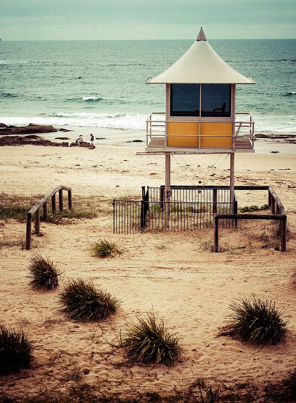 The Entrance by Ken Waller. Surf lifesavers observation point at The Entrance on NSW's Central Coast, Australia.