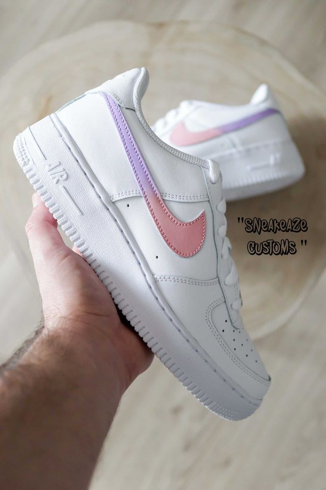 Nike Air Force 1 Color Swoosh Gradient Pink Lilac In 2020 Nike Air Shoes Nike Shoes Air Force Nike Air