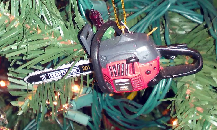 Craftsman Chainsaw Christmas Tree Ornament. I bought this at Sears.