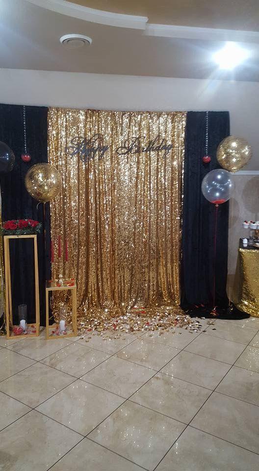 Gold Pailletten Hintergrund für Silvester   – Party