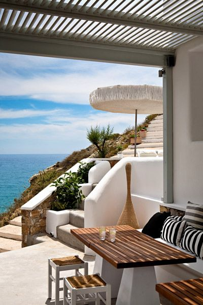 outdoor space at Folegandros Greece