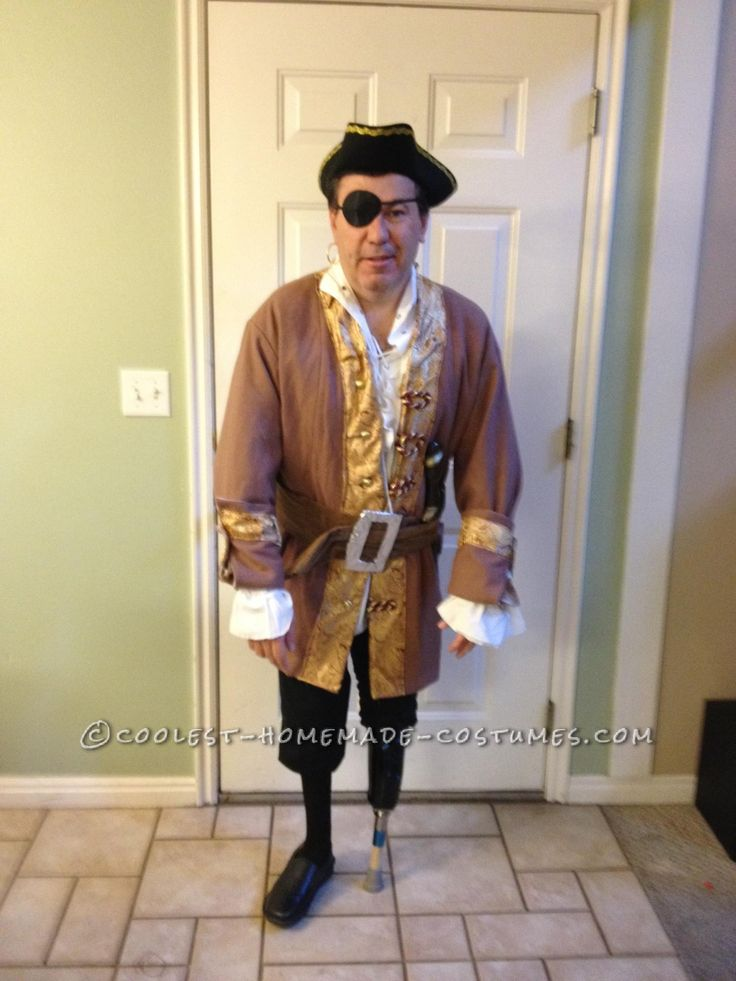 Pirate Costume with a Peg Leg... Coolest Halloween Costume ...