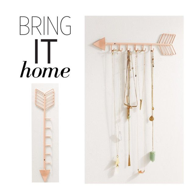 """""""Bring It Home: Arrow Necklace Organizer"""" by polyvore-editorial ❤ liked on Polyvore featuring interior, interiors, interior design, home, home decor, interior decorating, Urban Outfitters and bringithome"""