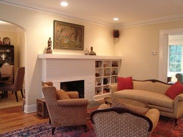 Traditional Living Room Fireplace Recessed Design Pictures Remodel Decor And Ideas