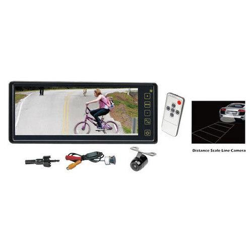 Rearview Backup Camera & Mirror Monitor System, Waterproof Night Vision Cam, 8.1'' Display, Distance Scale Lines, Universal Mount (Front/Rear Vehicle)