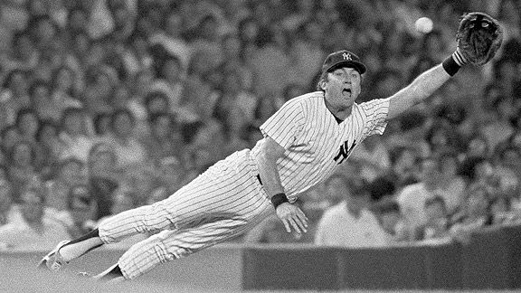 Athletes have varying abilities on the playing field, but Yankees 3B Graig Nettles is the only one who could fly.