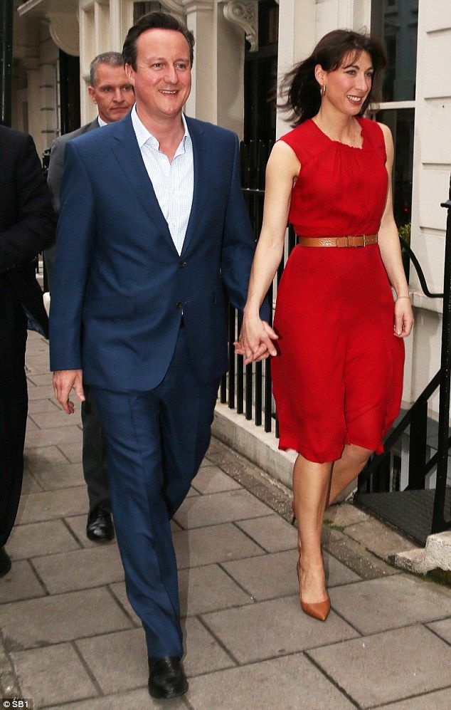 David Cameron celebrated 'the sweetest victory of all' by taking his wife Samantha out for...