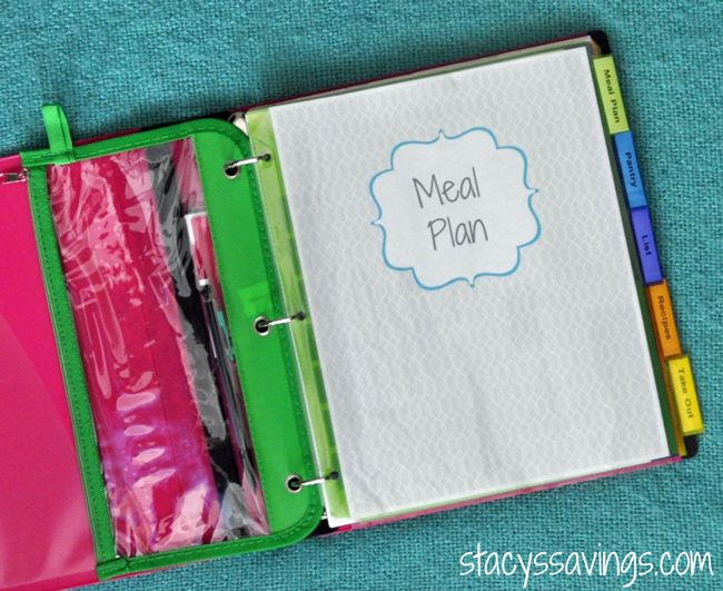 Getting Organized: Meal Planning Binder!
