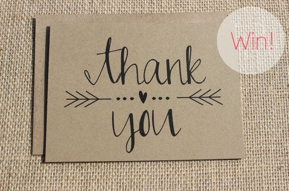thank you cards kraft paper: love this design.  Some great ideas for writing thank you cards.