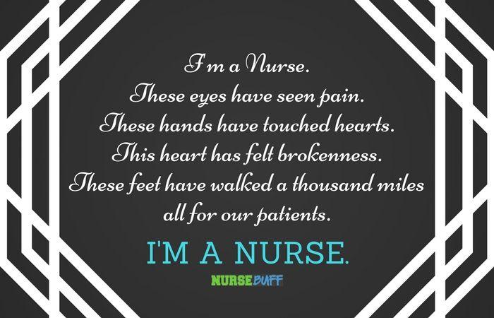 TODAY'S QUOTE: I am a nurse #nursebuff #nursequote