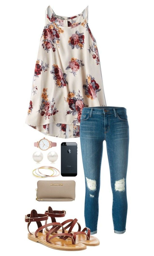"""""""Untitled #616"""" by shelbycooper ❤ liked on Polyvore featuring American Eagle Outfitters, J Brand, K. Jacques, MICHAEL Michael Kors, Bling Jewelry, Tiffany & Co. and Oasis"""