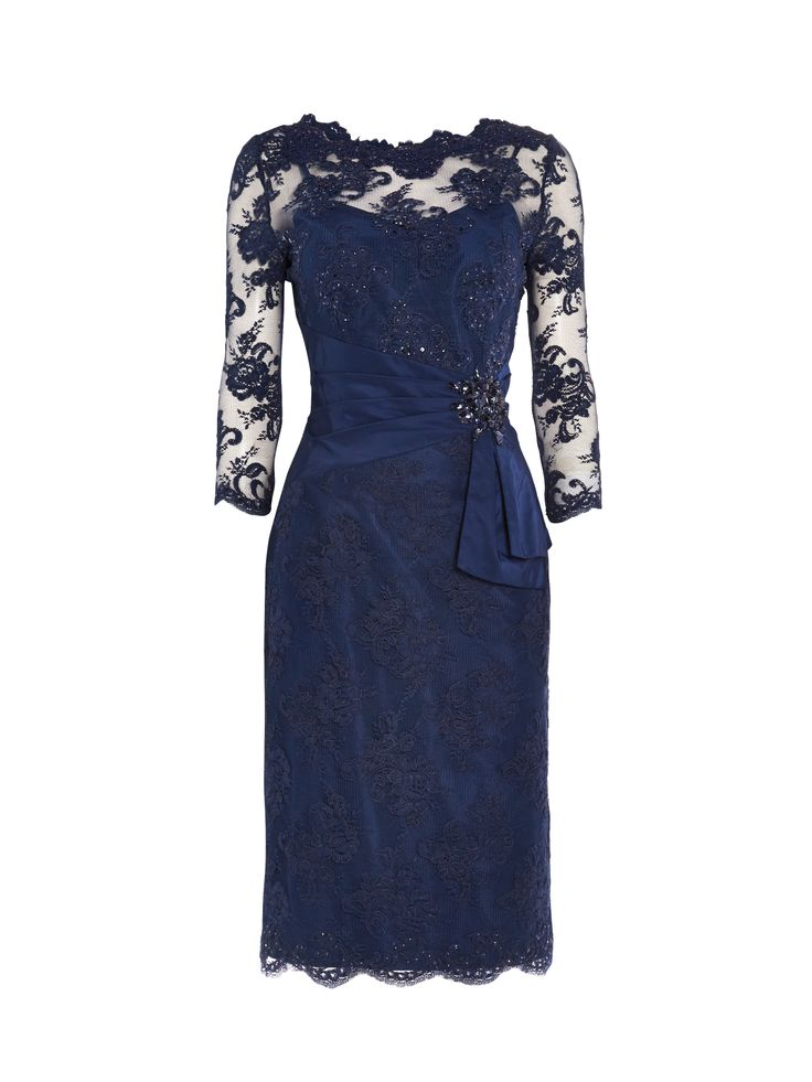 Megan Navy Mother Of The Bride Dress. Corded lace dress. £335.
