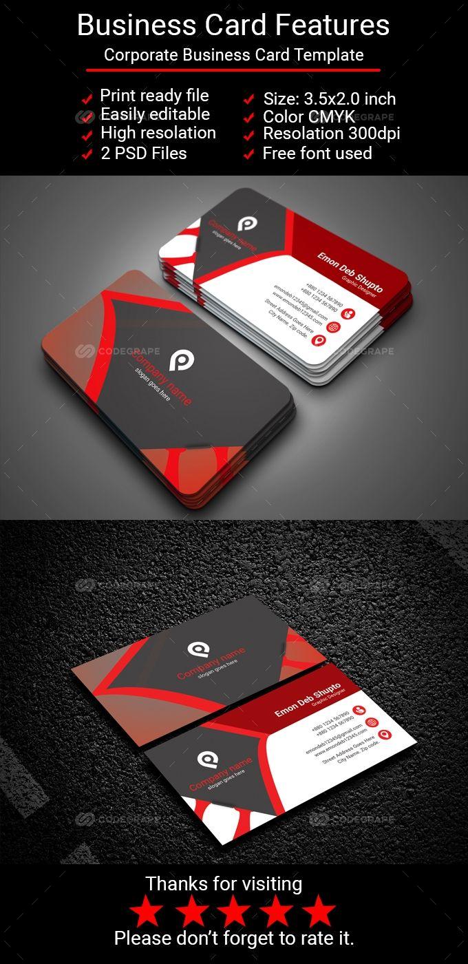 Corporate Business Card Corporate Business Card Corporate Business Double Sided Business Cards