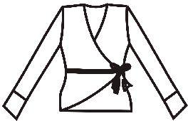 Выкройки больших размеров для полных: выкройка блузки с запахом