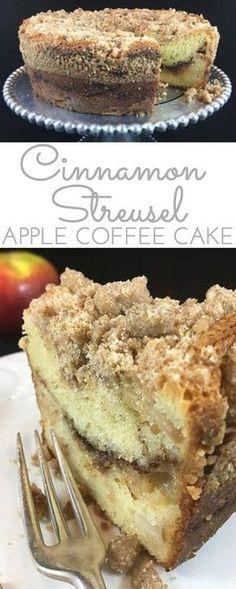 Cinnamon Streusel Apple Coffee Cake Recipe Torte E Dolci