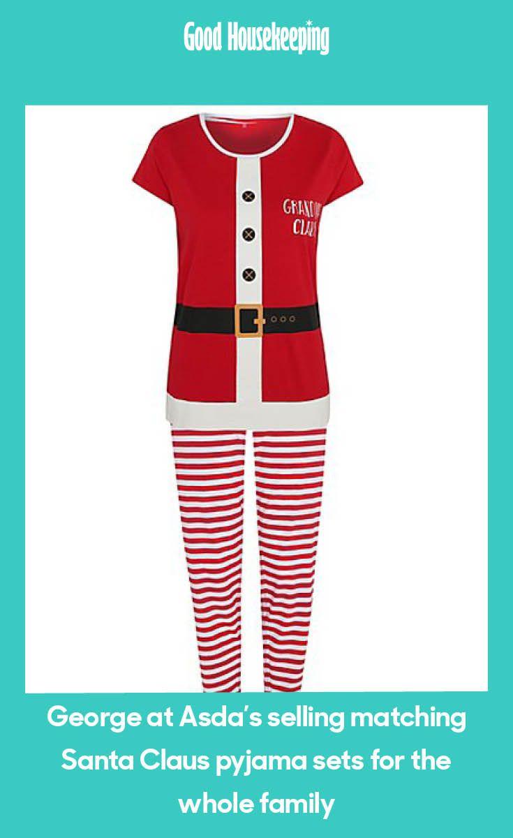 George At Asda S Selling Matching Santa Claus Pyjama Sets For The Whole Family Pajama Set Christmas Gift Inspiration George At Asda