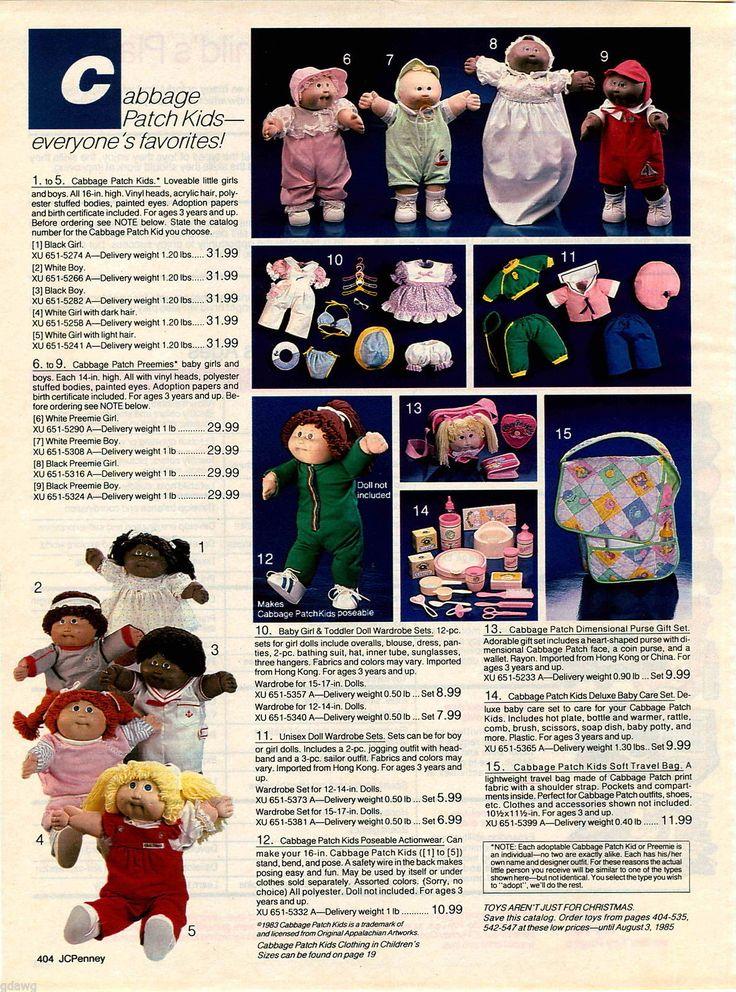 1984 ADVERT Cabbage Patch Kids Doll Dolls Black Girl White Boy Baby Babies Cloth | eBay