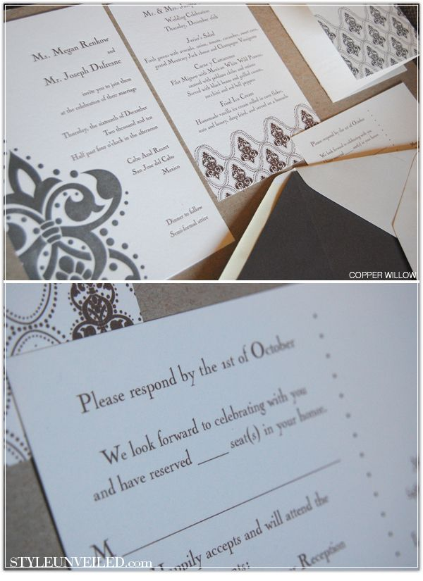 wedding cards with price in chennai%0A minted wedding invitations  See More  Charcoal and cream stationery