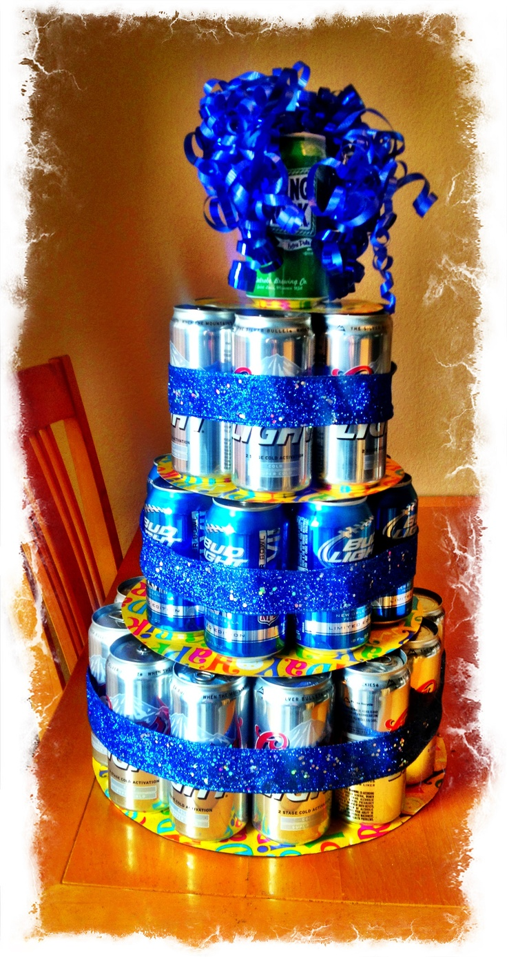 Erik's Beer Can Birthday 'cake' | Gift ideas | Pinterest